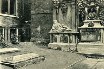 Temple de Londres : tombe de Goldsmith