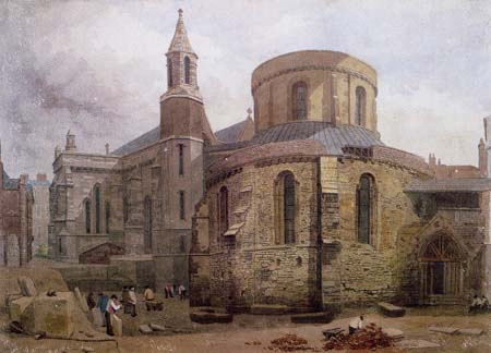 The Temple church (April 1862) - J. Wykeham Archer